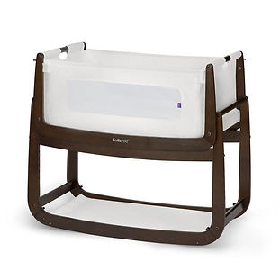 SnuzPod3 bedside crib or bassinet set up for a baby during their Queenstown family holiday