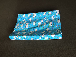 Blue baby nappy change mat