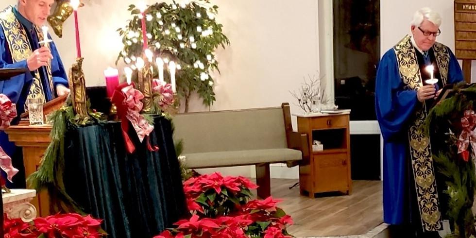 Christmas Eve Candlelight Service & Pre-Service Christmas Feast!