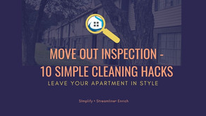Move Out Inspection -10 Simple Cleaning Hacks