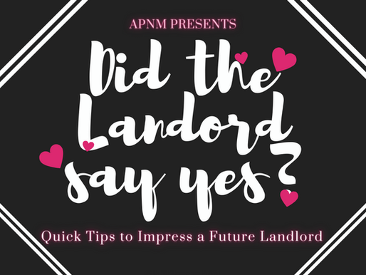 Quick Tips To Impress a Future Landlord
