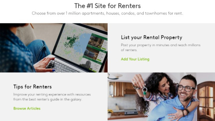 Contains information on how to list your rental property and tips for renters