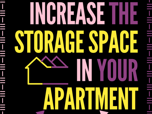Increase the Storage Space in Your Apartment