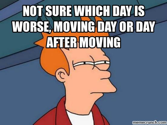 Comedic Meme about Moving