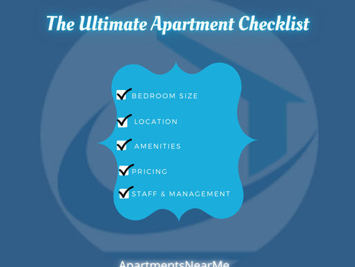 The Ultimate Apartment Checklist