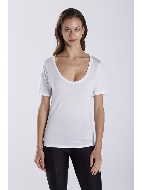 Ladies Deep Scoop Neck Tee