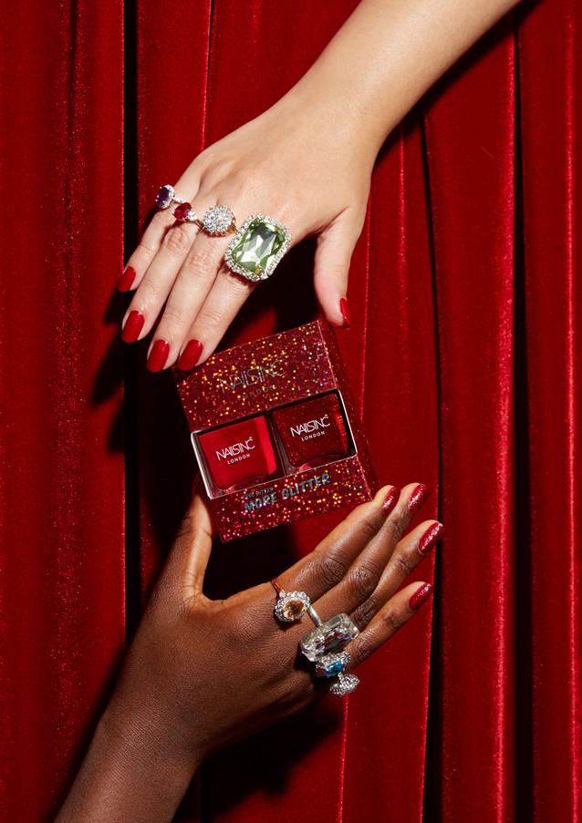 Nails INC Christmas '18 Marketing Creative (Austeja Sciavinskaite photography)