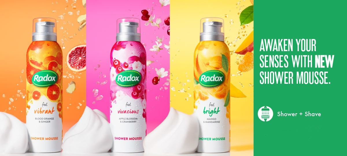 Radox Shower Mousse Advert  A/W '18 (Dom Dodd photography)