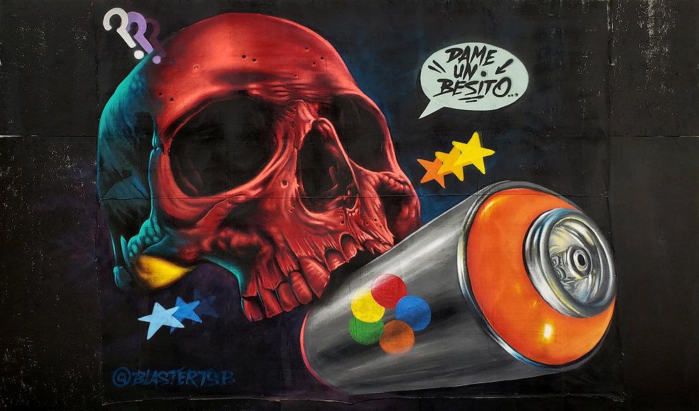 Dame Un Besito Mural Artwork