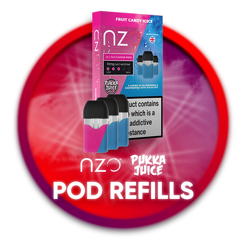 Pukka Juice Refill Pods for NZO - 10mg