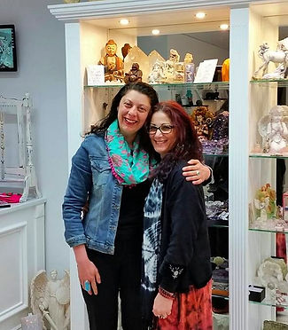 Effie with Giuliana, owner of Worldly Treasures