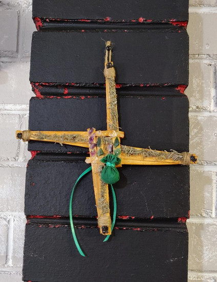 Handmade Saint Brigid's Cross Personalised For New Business
