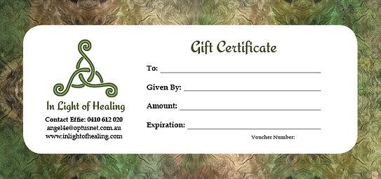 In Light of Healing Gift Certificate