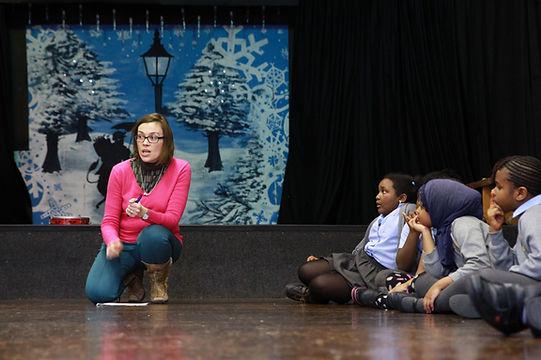 Sarah Redmond teaching children.