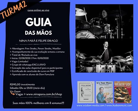 Guia das Mãos - Curso Online ao Vivo - Nina Pará e Felipe Drago - TURMA 2