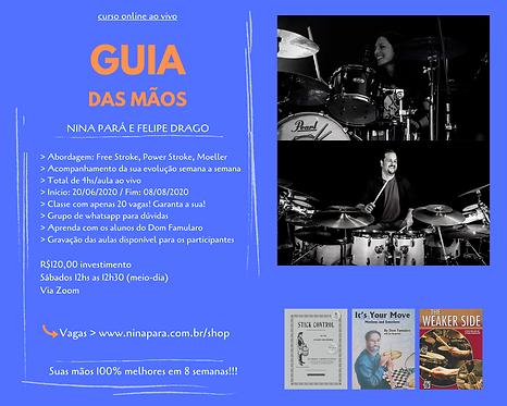 Guia das Mãos - Curso Online ao Vivo - Nina Pará e Felipe Drago