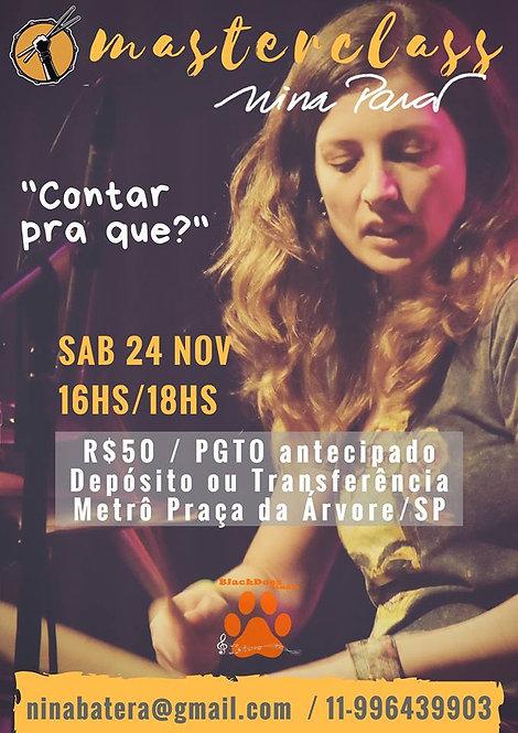 Ingresso Masterclass Nina Pará (Individual)