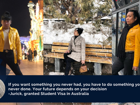 27-year-old Davaoeño OFW, excited to start a new journey as an International Student in Australia