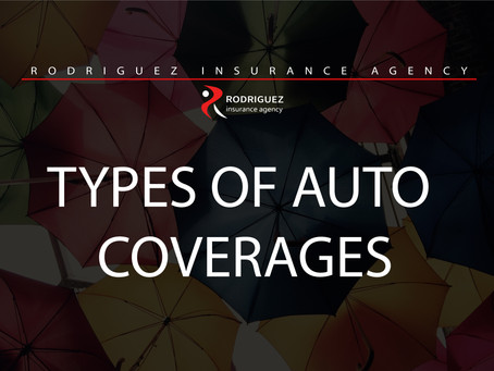 TYPES OF AUTO COVERAGES