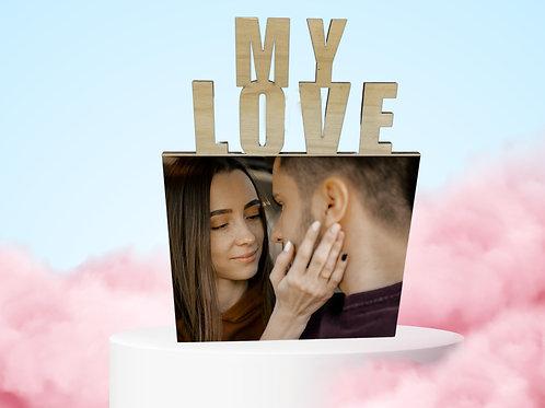 """מעמד עץ """"MY LOVE"""""""