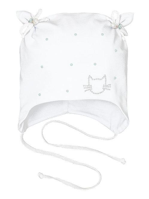 White Kitten Pearl Girls Hat