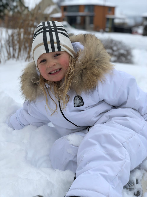 One Piece White Winter Snow Jump Suit