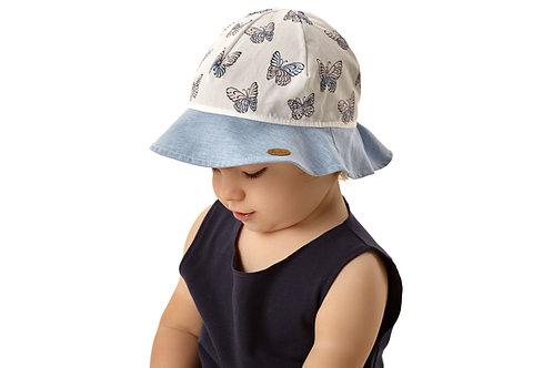 Cotton Summer Hat with Buterflies