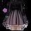 Thumbnail: Black/Pale Pink Polka Dot Girls Dress