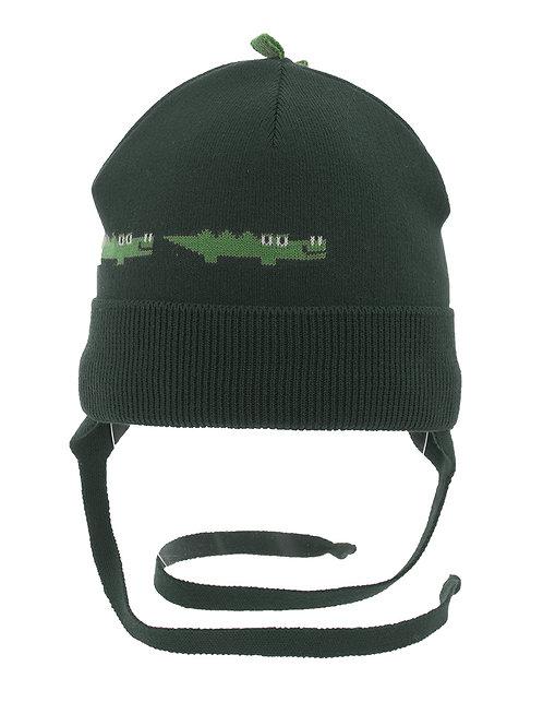 Dark Green Alligator Boys Hat