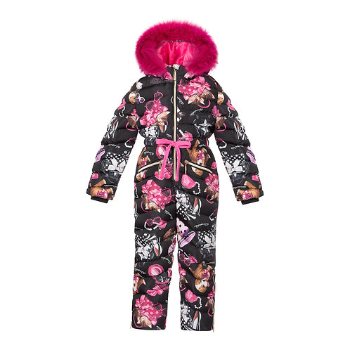 Winter Snow Suit with puppies