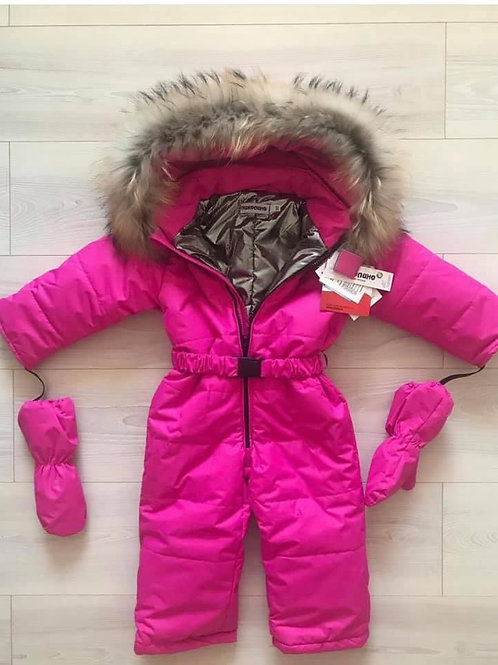 Hot Pink Winter Snow Jumpsuit