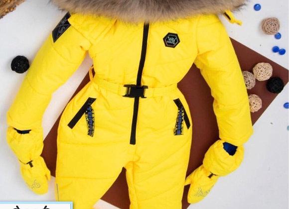 One piece Yellow Snowsuit Thomas Ice