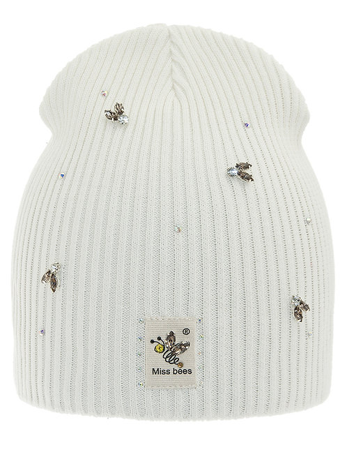 Ivory Miss Bees Girls Hat