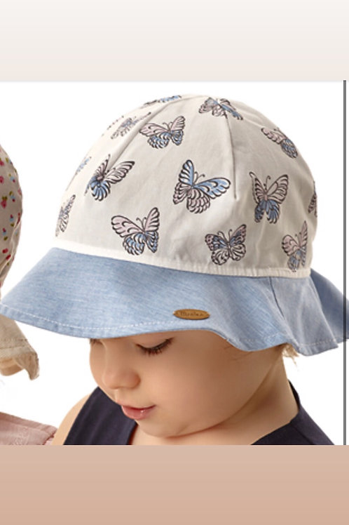 Cotton Summer Hat with Buterflies