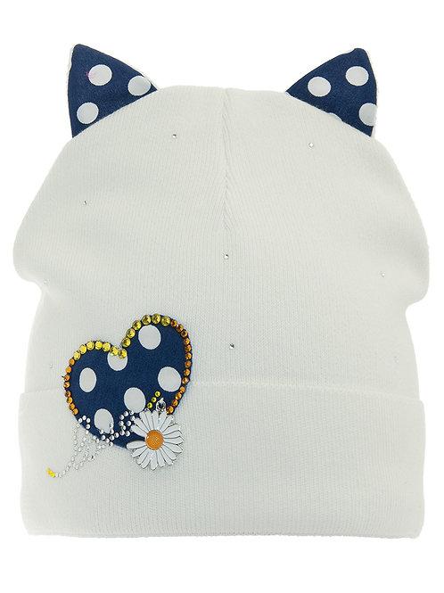 Daisy Hearts Girls Hat