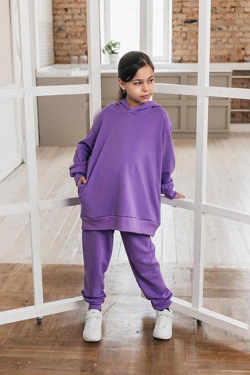 OVERSIZE unisex track suit for kids purple