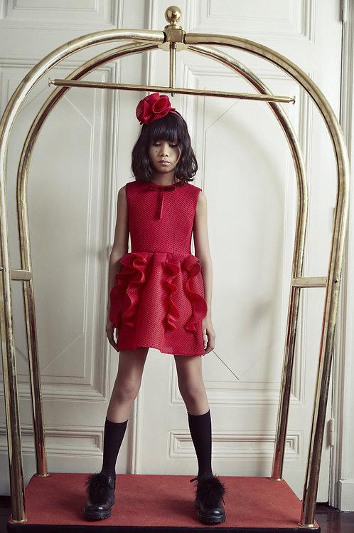Red Swirly Dreams Girls Dress