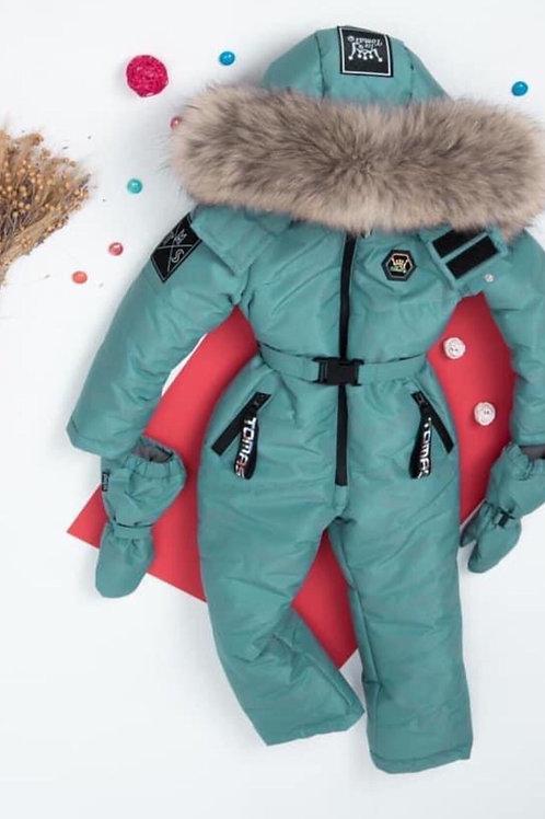 Laguna One Piece Blue Winter Snow Jump Suit