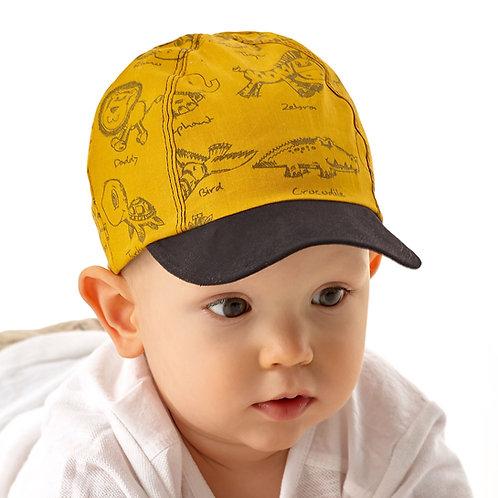 Cotton Mustard Summer Cap for Boys