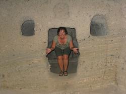 L'entrée d'un ancien tombeau