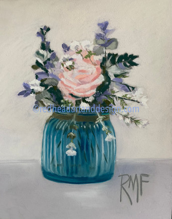 Blue Vase with Peach Rose.jpg