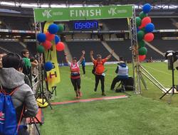 Sarah at the finish line!