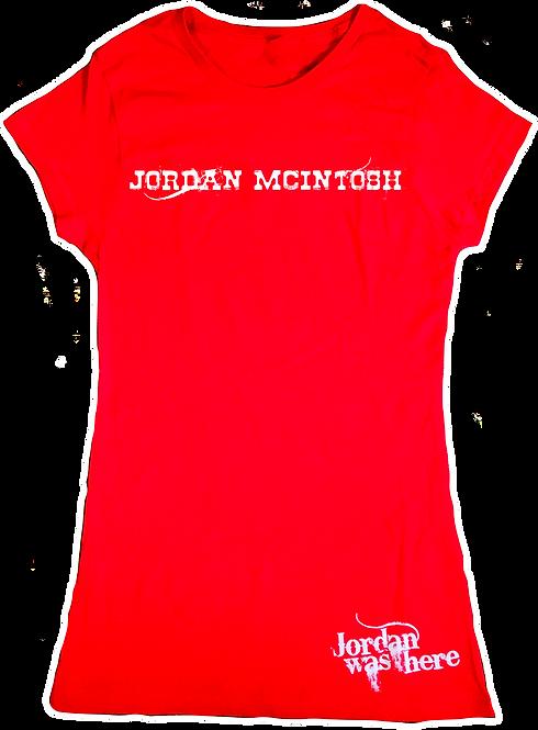 Jordan Woman's Tee - Red AUTOGRAPHED