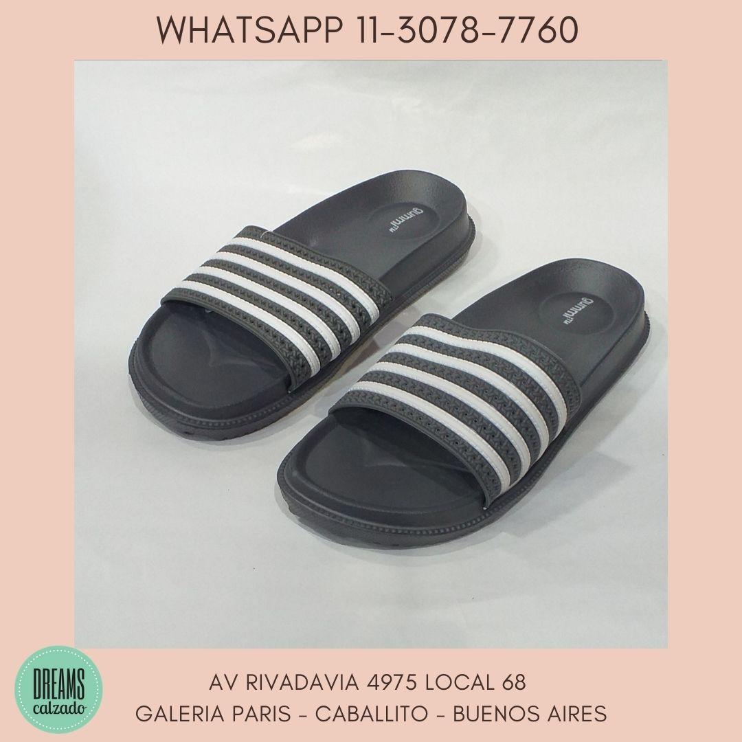 Ojotas Gummi banda faja Originales dilet para hombre gris Dreams Calzado Caballito Av Rivadavia 4975