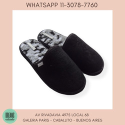 Pantuflas para hombre Solanas abrigo negro Dreams Calzado Caballito Av Rivadavia 4975 local 68 Galer