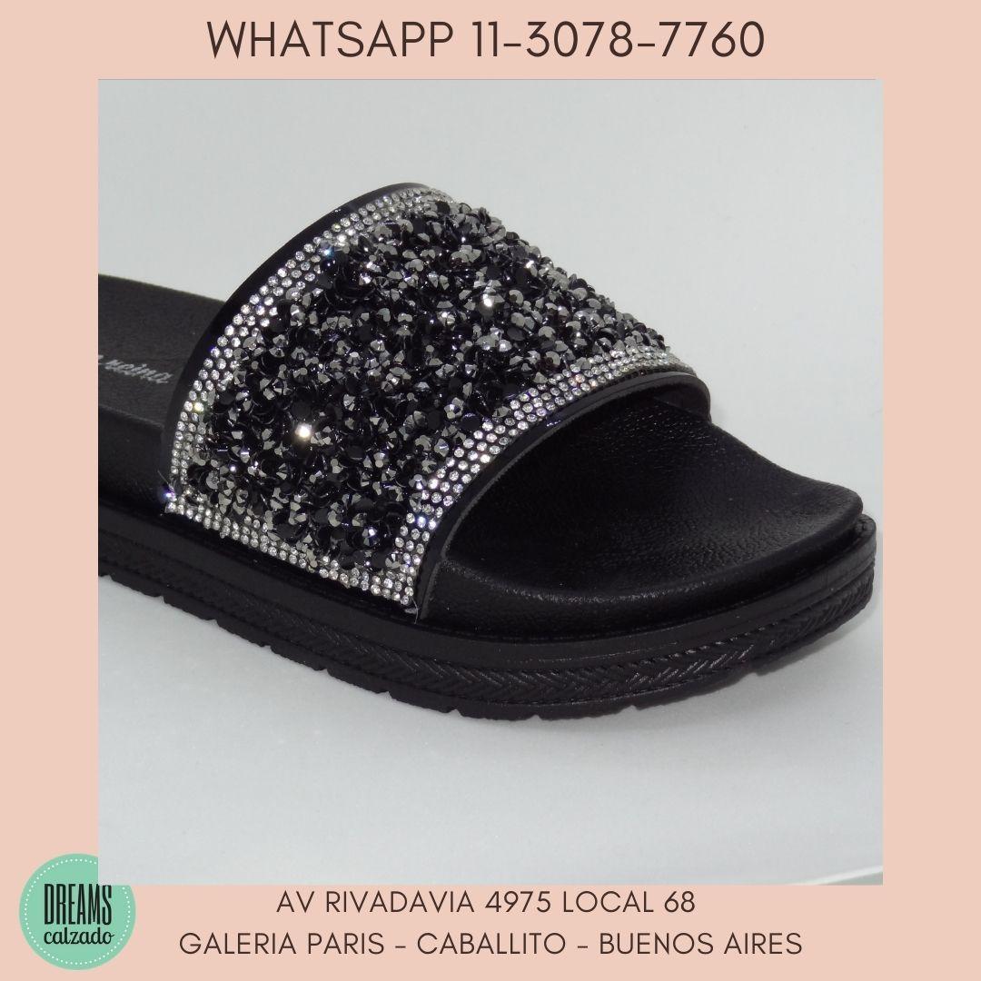 Sandalias de Faja con brillo  Siempre Reina alta Negro DReams Calzado Caballito Av Rivadavia 4975 lo