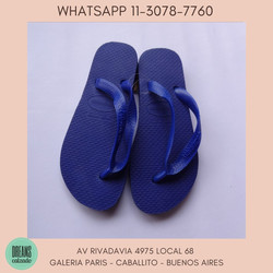 Ojotas Havaianas color azul unisex originales Dreams Calzado Caballito Av Rivadavia 4975 Local 68 Ga