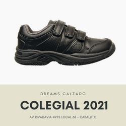 Zapatillas colegiales Marcel deportivas salamanca negro abrojo velcro Dreams Calzado Caballito Av Ri