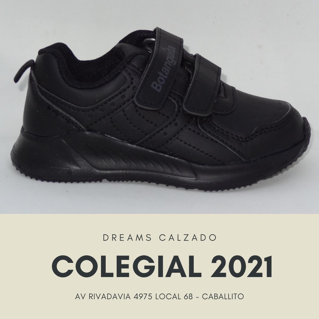 Zapatillas colegiales Botanguita deportivas JACE school negro abrojo velcro Dreams Calzado Caballito