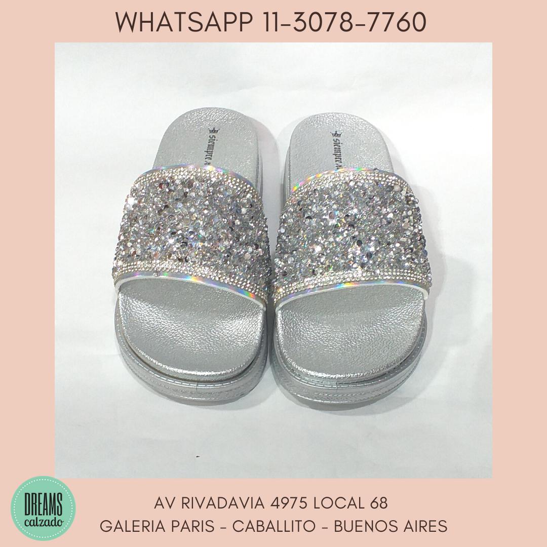 Sandalias de Faja con brillo  Siempre Reina alta plateado DReams Calzado Caballito Av Rivadavia 4975